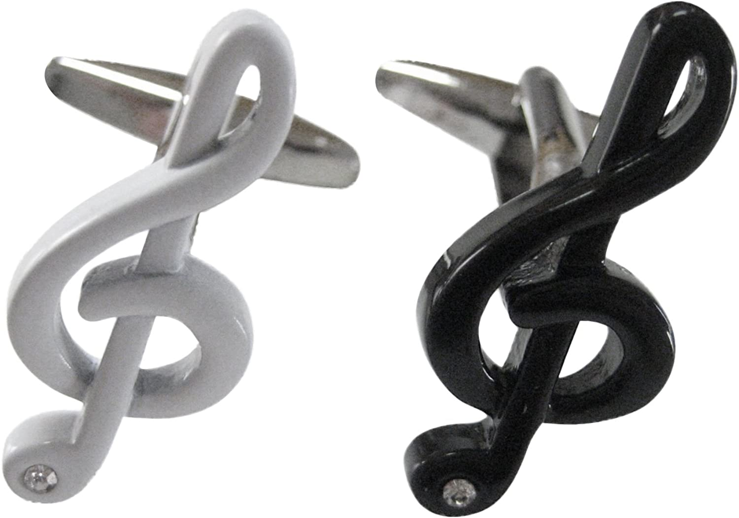 Black and White Musical Note Cufflinks