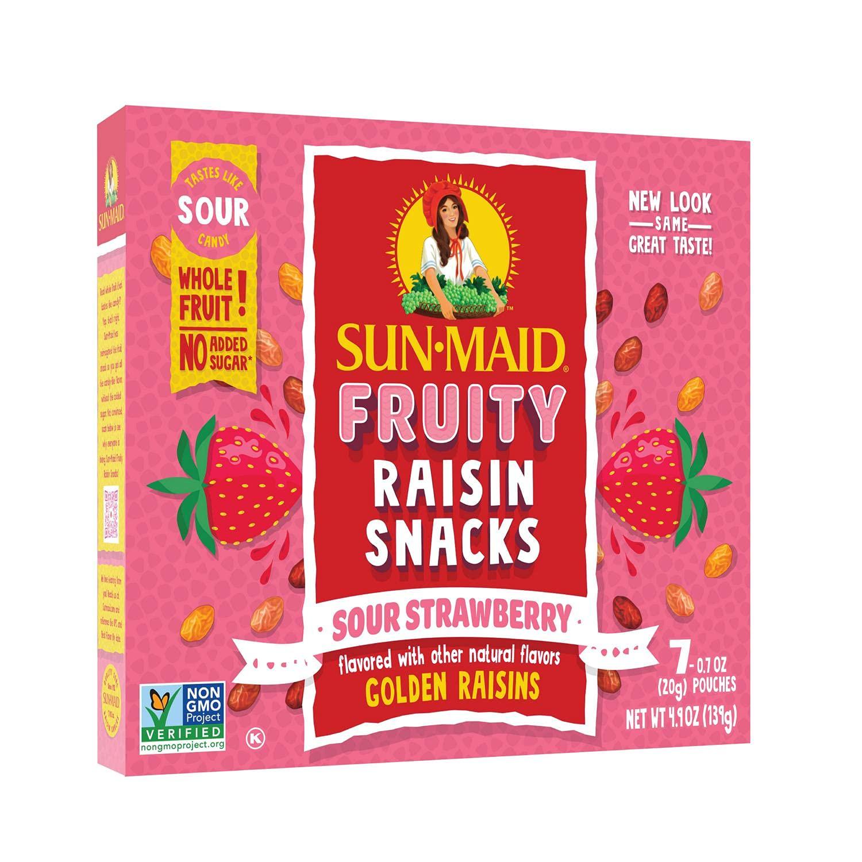 Fashionable Sun-Maid • Strawberry Sour Raisins 0.7 2 Box Ounce Snacks outlet