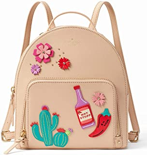 Kate Spade New York WKRU5295-228 Cactus Tomi New Horizons Leather Mini Backpack - Cashew