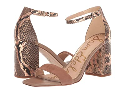 Sam Edelman Daniella (Praline Kid Suede Leather/Bahamas Snake Print Leather) Women