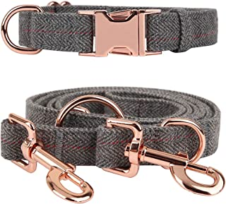 Tifereth Heavy Duty Dog Leash and Collar Set 6 Foot Exceptionally Elegant Dog Leash Set Perfect for Medium to Large Dogs