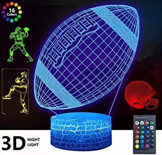 3D Rugby Night Light, DDDNIGHTLIGHT 4 Patterns Led...
