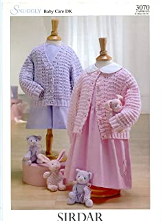 Snuggly Baby Care DK Cardigans - Sirdar Knitting Pattern 3070 Ages NewBorn - 6 years