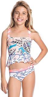 Maaji Girls' Ruffle Trim Tankini Swimsuit Set