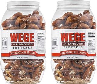 Wege Of Hanover Sourdough Hards Pretzels- Two 28 oz. Barrels
