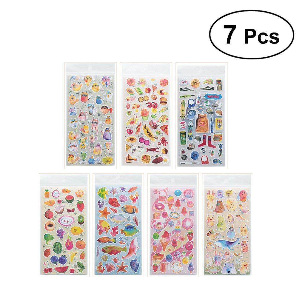 Toyvian Pegatinas de planificador Value Pack Colección de calcomanías Decorativas para Scrapbook Calendario Álbum Diario Diario Arte DIY Manualidades 7 Hojas: Amazon.es: Juguetes y juegos