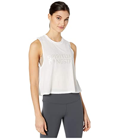 Spiritual Gangster Active Crop Tank (SGV White) Women