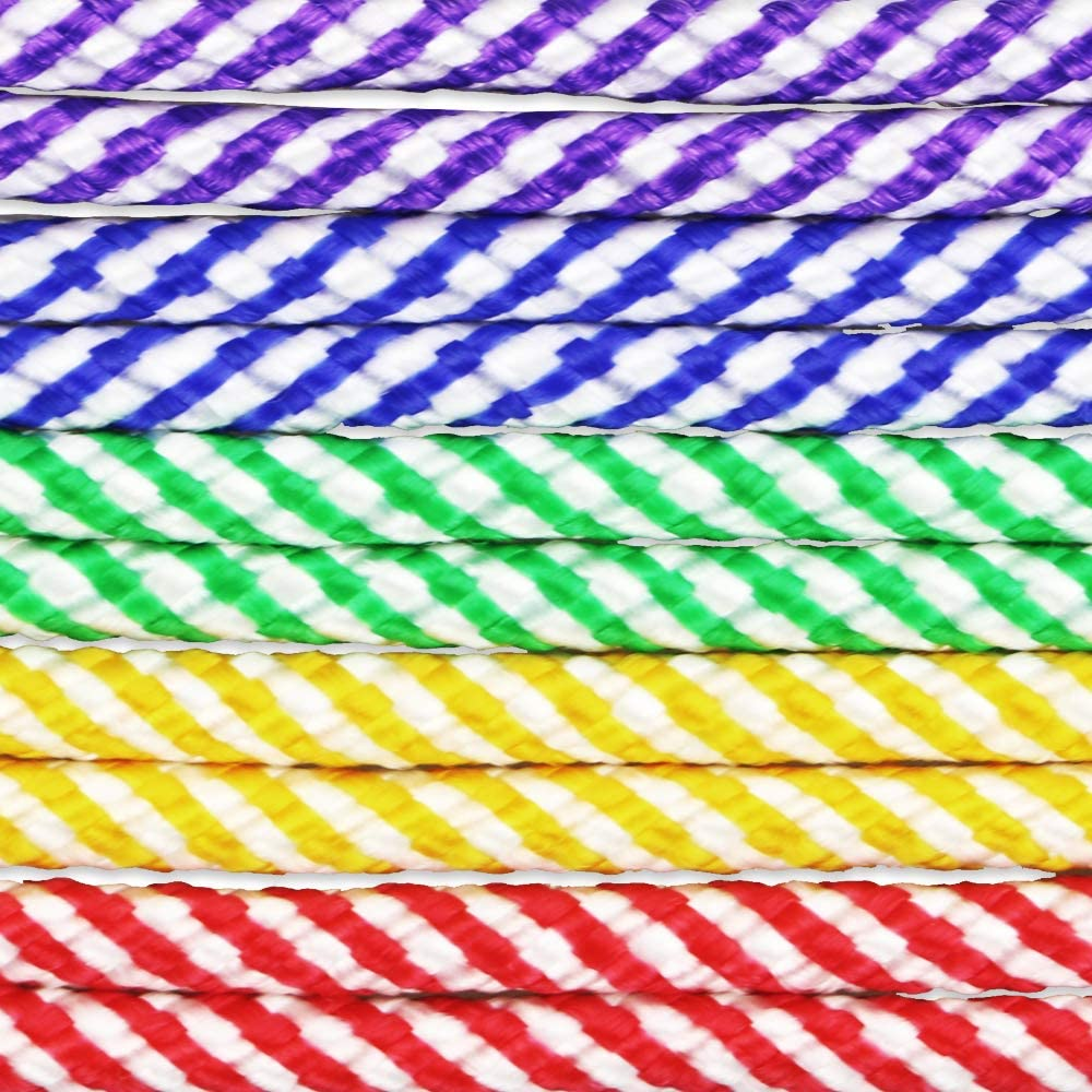 Set of 6 Assorted Colors for Boys and Girls Age 5-10 Year Old 7.8 feet Sc0nni Jump Ropes