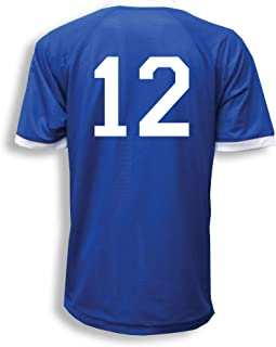 Reversible sports jersey, personalized with player number on both back sides