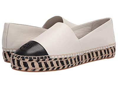 Tory Burch Color Block Platform Espadrille (Perfect Ivory) Women