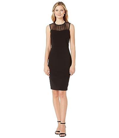 Calvin Klein Illusion Neck Sheath Dress (Black) Women