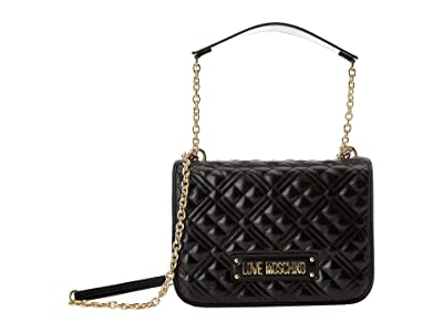 LOVE Moschino Quilted Crossbody (Black) Handbags