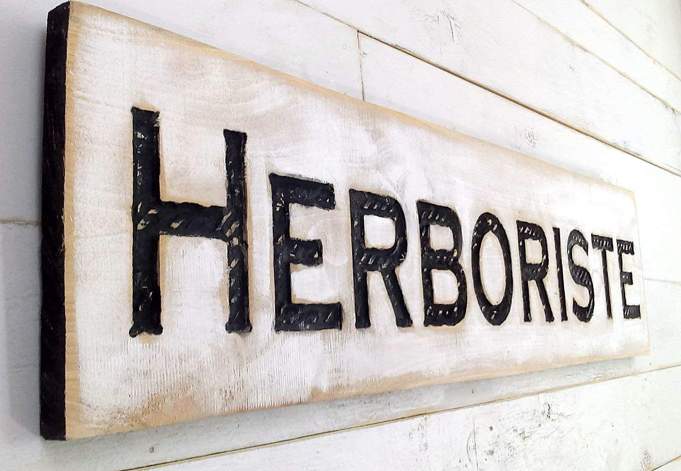 Large Herboriste online shopping Sign Horizontal - Carved Wood Kansas City Mall a 40