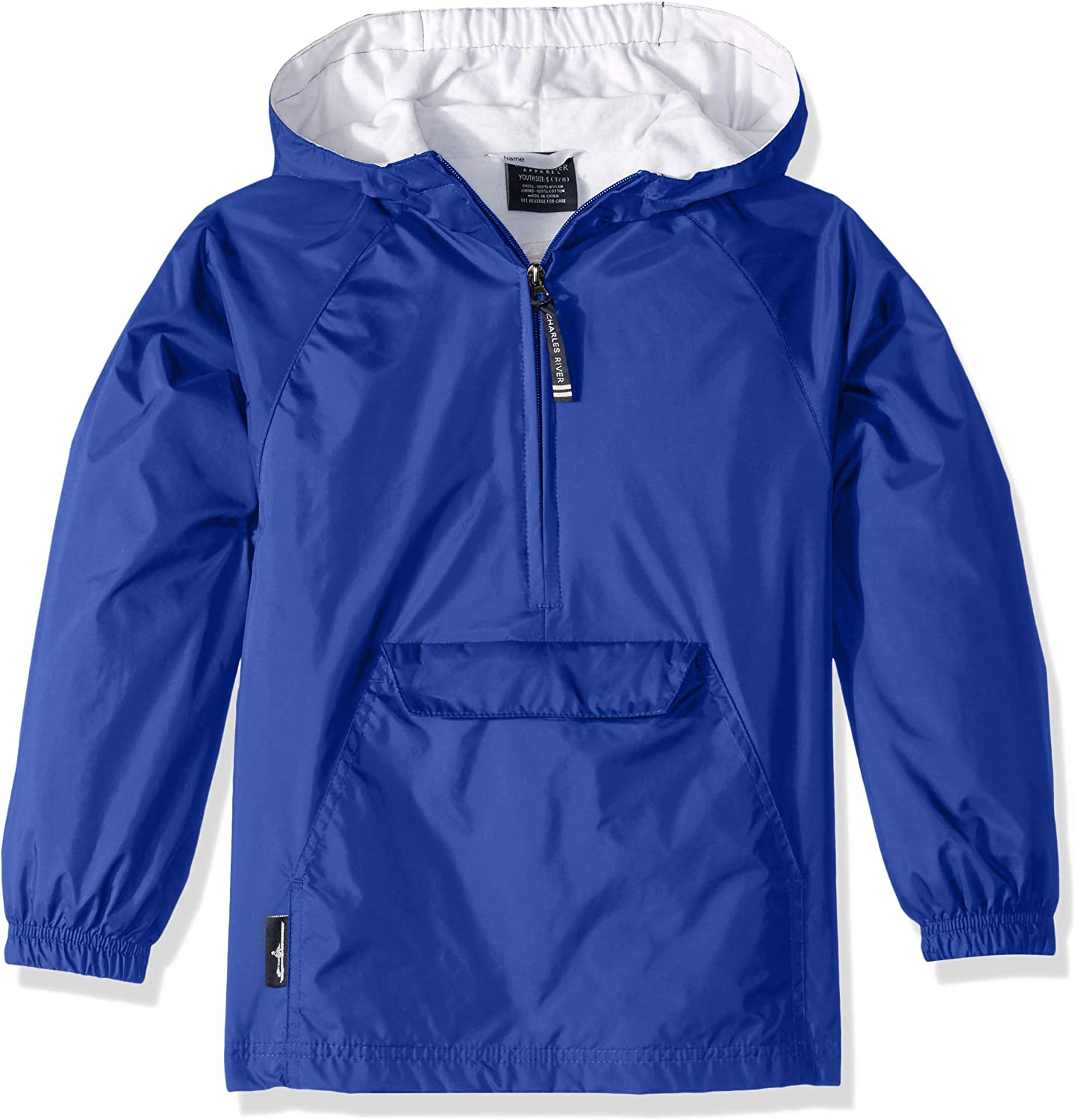 Charles River Apparel Youth Water Resistant Hooded Jacket
