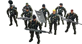 Warmtree 3.9 inch Commando Soldiers Action Figures Elite Heroes Model with Special Weapons Plastic Military Toys Gifts for Kids, Set of 8