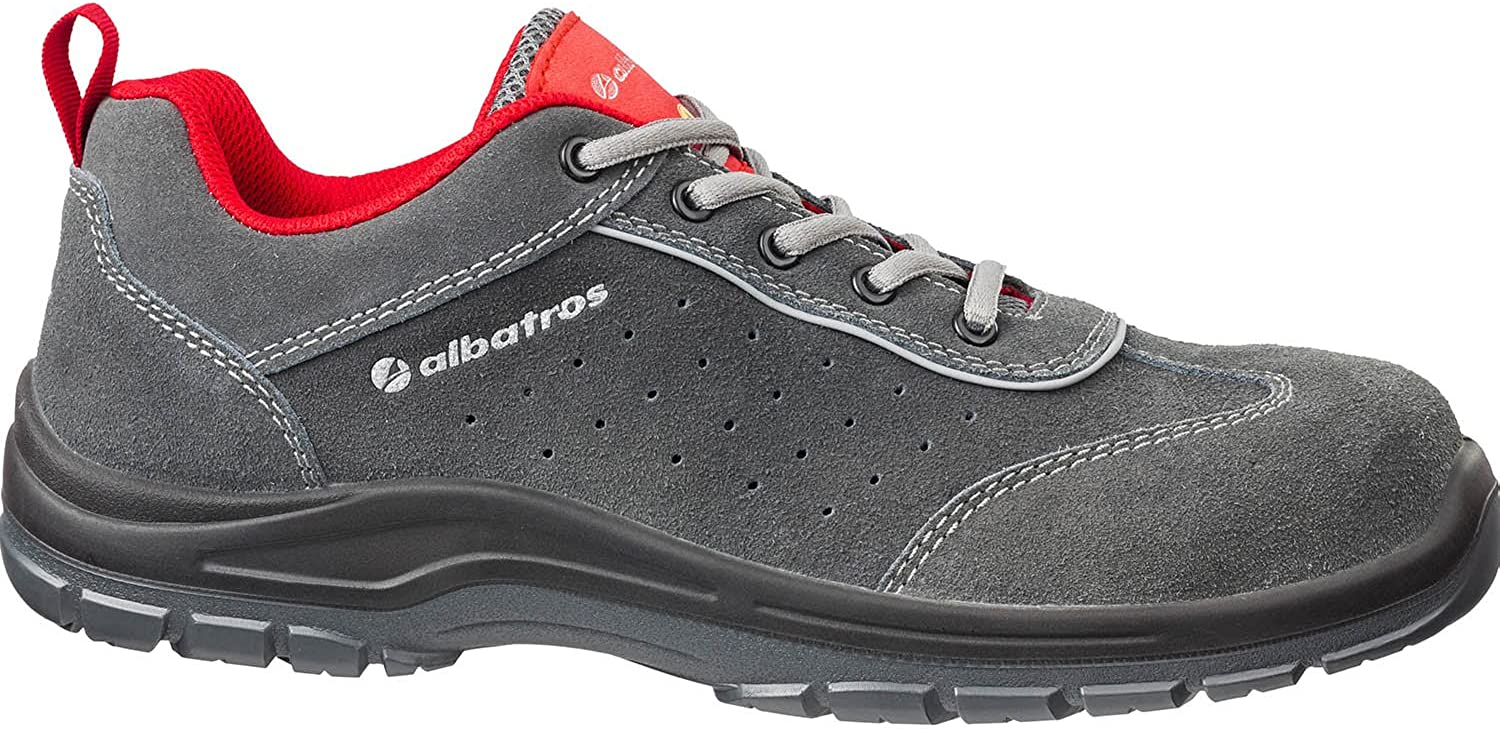 Albatros 646140-800-43 shoes  Sport CSL , Size  8.5, grey - EN safety certified