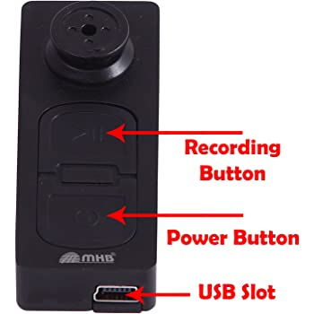 M MHB HD Quality Spy Button Camera Series 2 with Hidden Audio/Video Recording .32gb Supportable Memory.While Recording no Light Flashes.