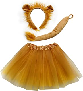 So Sydney Kids Teen Adult Plus 2-3 Pc Tutu Skirt, Ears, Tail Headband Costume Halloween Outfit
