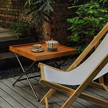 Tables Small Coffee Rattan Coffee Japanese-Style Small Apartment Living Room Square Small Side Homestay Home Tea Furniture (C