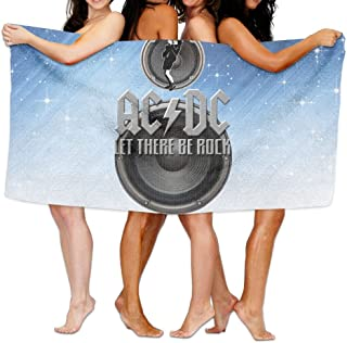 Uolongqul Acdc Let There Be Rock Bath Towel Colorful Beach/Bath/Pool Towel 51.2