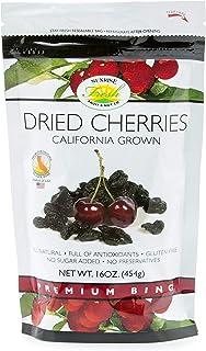 Sunrise Fresh Dried Fruit Company No Sugar Added Dried Dark Sweet Cherries, 1lb Bag