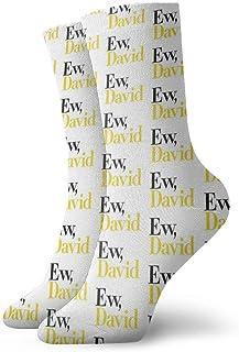 Kevin-Shop, Los más vendidos EW, David (Schitt 'S Creek) Calcetines Classic Leisure Sport Short Calcetines 30cm / 11.8inch Adecuado para Hombres Mujeres