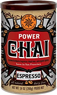 David Rio Power Chai with Espresso, 14 Ounce (Pack of 1)