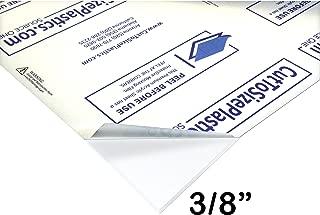 Source One LLC 3/8 th Inch Thick 12 x 12 Inches Acrylic Plexiglass Sheet, Clear HEAVY DUTY (12