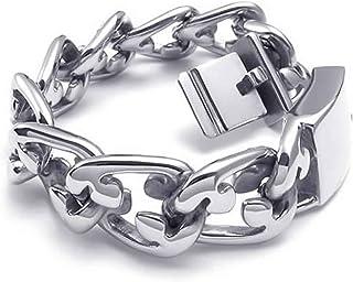 ANAZOZ Stainless Steel Links Bangle Silvery Bracelet Biker Mens Jewelry