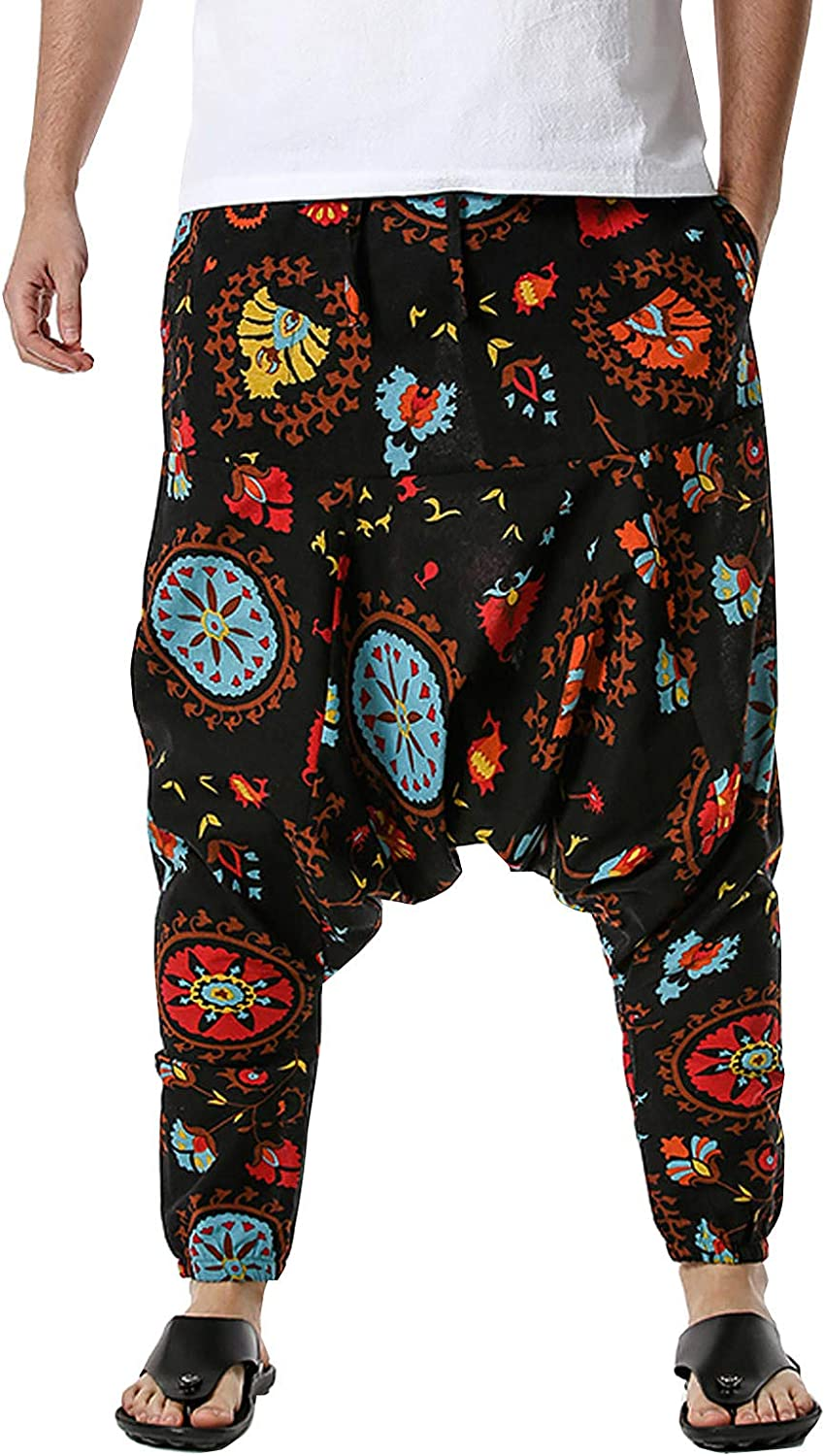Unisex Harem Pants Hippie Boho Yoga Baggy Gypsy Capri Alad Outlet ☆ Free Shipping 70% OFF Outlet