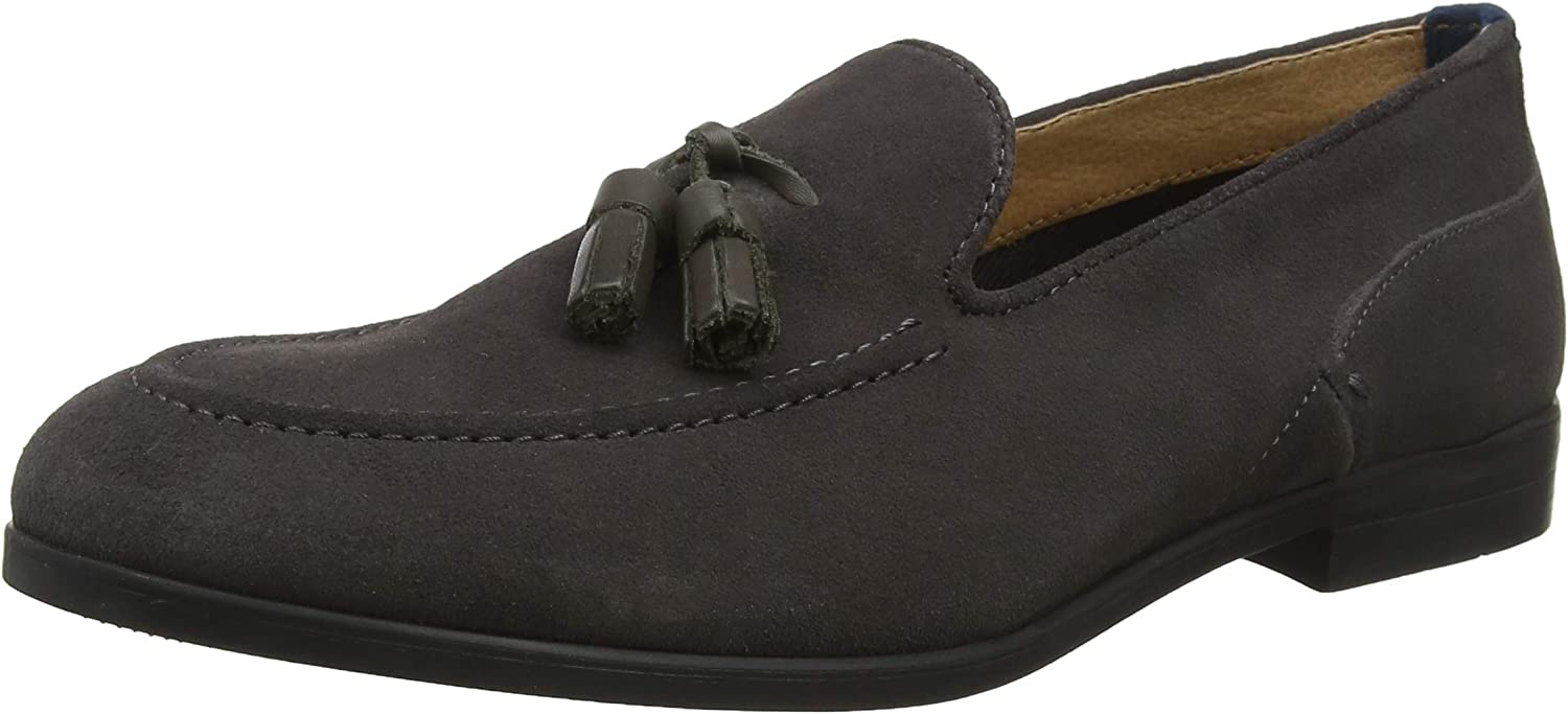 H By Hudson Mens Aylsham Crafted Suede Smart Loafers Office Work shoes