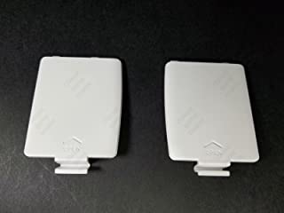 PAIR OF WHITE BATTERY COMPARTMENT COVERS LIDS for The SEGA GAME GEAR