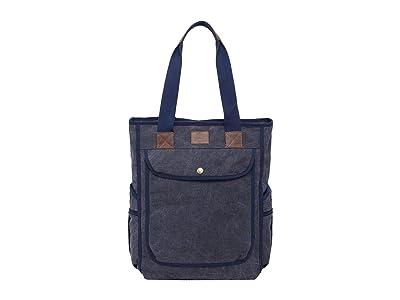 TSD Brand Atona Canvas Tote Bag (Navy) Tote Handbags