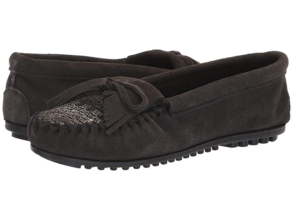 Minnetonka Cordova Kilty (Charcoal) Women's Slippers, Gray