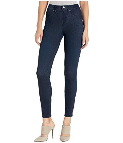 HUE High-Waist Ultra Soft Denim Leggings (Black/Indigo Wash) Women