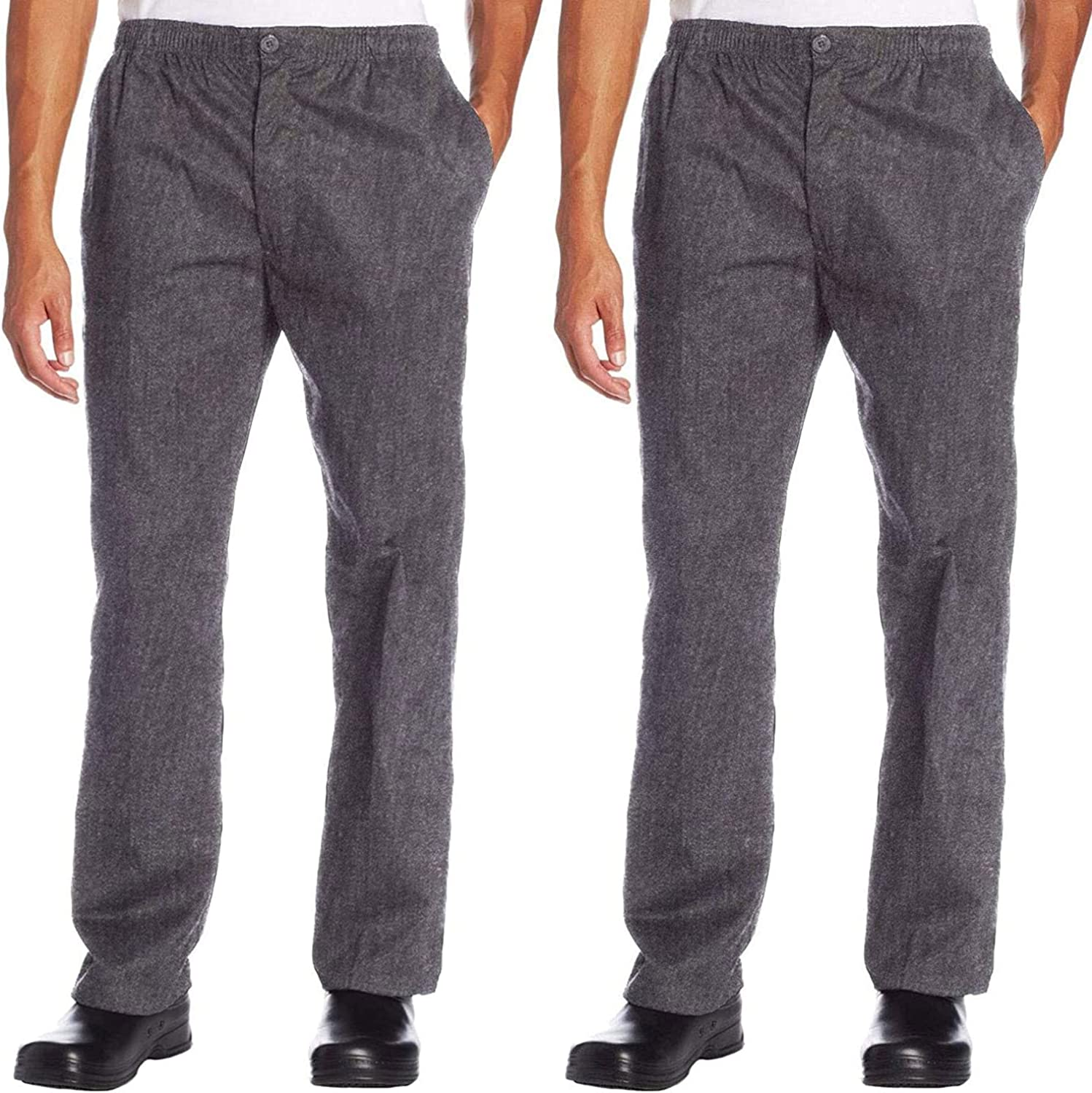 Chef Code 2-Pack Classic Trouser Pant New color with Waist - Elastic National uniform free shipping