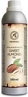 Aceite de almendras dulces 250 ml - Aceite de Prunus Amygdalus Dulcis - Italia - Aceite para la piel del mejor cuidado - C...
