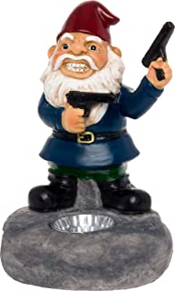 Solar Outdoor Second Amendment Lawn Gnome - Light Up Garden Statue by GreenLighting