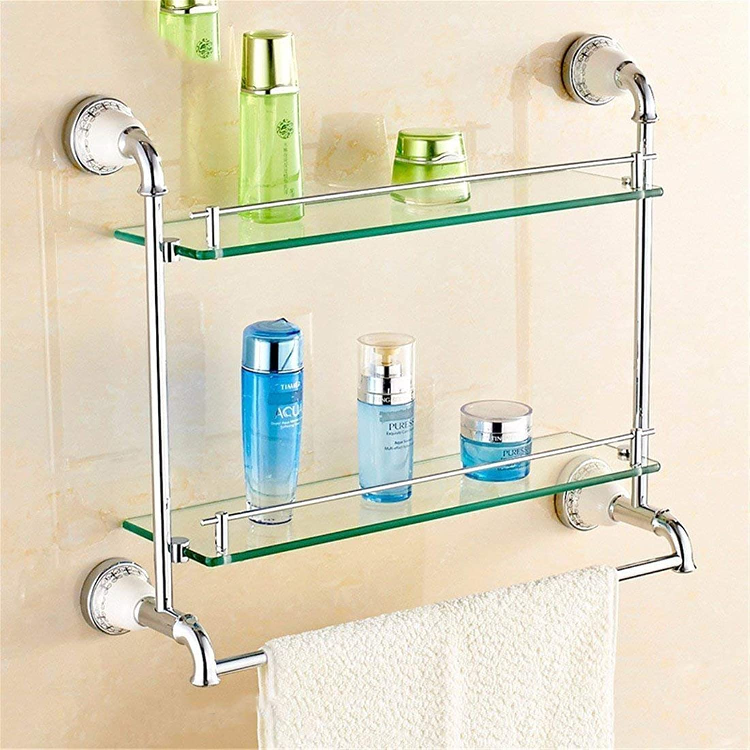 European Copper Chrome Plated, Base in Ceramics, Bathroom, Toilet Bar Napkin,2 Batteries