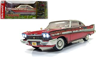 NEW DIECAST TOYS CAR AUTO WORLD 1:18 SILVER SCREEN MACHINES - CHRISTINE - 1958 PLYMOUTH FURY - FOR SALE VERSION AWSS119