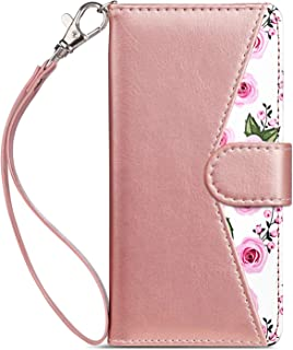 Dailylux LG Stylo 4 Case,LG Stylo 4 Wallet Case,LG Q Stylus Case Luxury Glitter Bling PU Leather Wallet Flip Protective Case Cover 9 Card Slots LG Stylo 4 2018/LG Q Stylus Flower Rose Gold