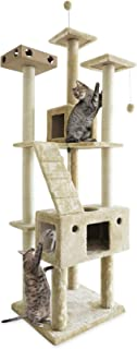 Furhaven Pet Cat Tree | Tiger Tough Cat Tree House Condo Entertainment Playground Furniture for Cats & Kittens, Double Dec...