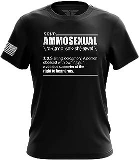 Pro-Gun AR15 AK47 Ammosexual American Flag Military Army Mens T-Shirt Made in USA
