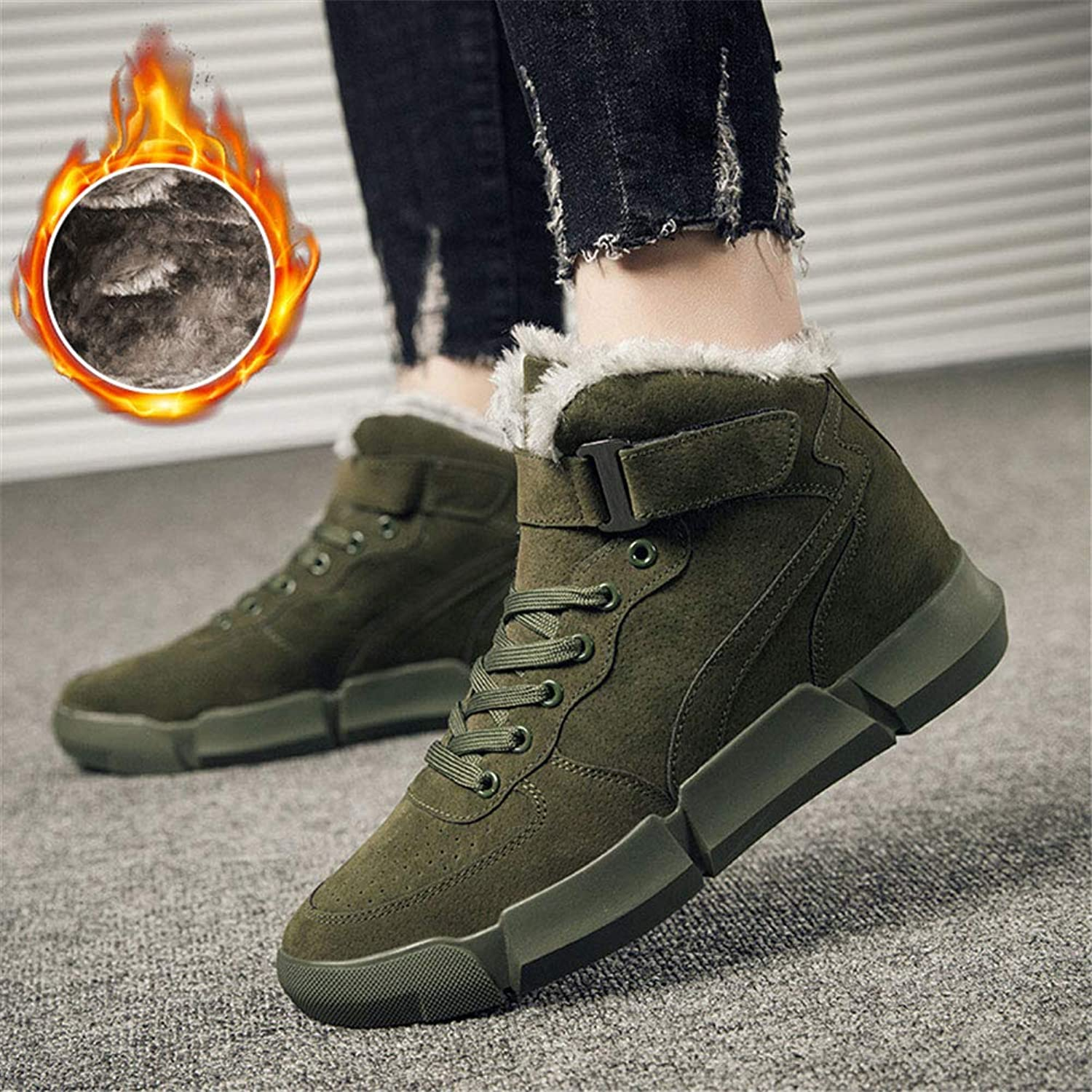 Men's shoes Men's Boots, Fall Winter Boots Fashion Snow Boots Martin Boots Cotton shoes Winter Men's Warm Plus Velvet Snow Boots Men's Fashion Boots (color   B)