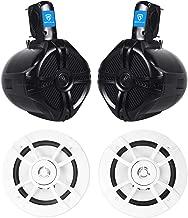 """$139 » Pair Kenwood KFC-1633MRW 6.5"""" Marine Boat Speakers+(2) Black Wakebaord Speakers"""
