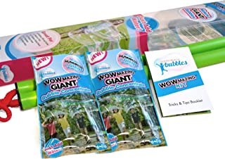 WOWmazing Giant Bubble Wands Kit: (3-Piece Set)   Incl. Wand, Big Bubble Concentrate and Tips & Trick Booklet   Outdoor To...