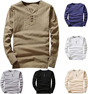 ♛Linen Cotton Clothing From Chamery♛ - Clearance Sale/Linen Shirts For Men/Casual Wild Tops Blouse Tees
