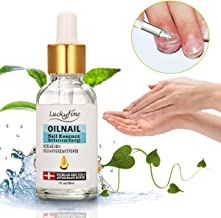 LuckyFine Nail Repair Treatment, Nail Fungus Treatments, Nail Care, Yellow, Damaged, Repairs, Brightens, Smooths Fast Treatment Hand/Feet, Herbs Finger Toe Nail Nourishing Essence
