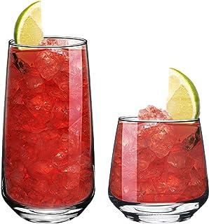 Argon Tableware 12 Piece Tallo Glassware Set - Modern Hiball Cocktail Juice Water Drinking Tumblers - Dishwasher Safe