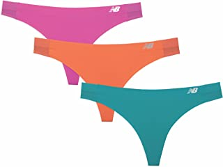 New Balance Women's Hybrid Soft Jersey mesh Panels Thong Underwear (Pack of 3)